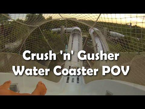 [HD] Water Coaster Ride POV - Crush n Gusher at Disney's Typhoon Lagoon - Hydromagnetic Coaster