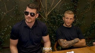 UFC 217: Michael Bisping and T.J. Dillashaw Lunch Scrum - MMA Fighting