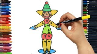 Clown Painting | How to draw | Colors | Drawing and Painting | How to color | Coloring for children