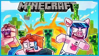 creepers are falling from the sky and everything is exploding... (Minecraft Mini Games)