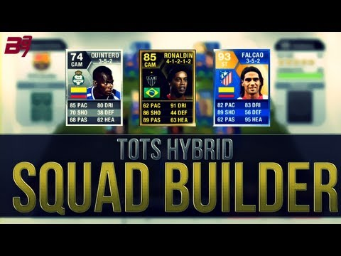 TOTS FALCAO HYBRID SQUAD BUILDER! | FIFA 13 Ultimate Team