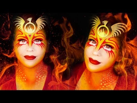 Halloween Makeup Tutorial: Phoenix the Fire Bird