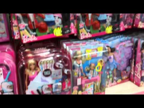 Shopping for Barbie Dolls & Bratz in the Girls Toy aisle at Walmart