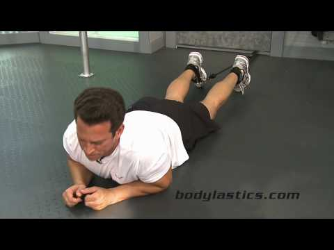 Hamstring Exercise - Leg Curl with Resistance Bands Image 1