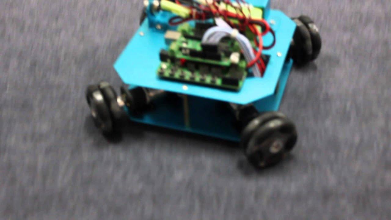 Wd mm omni wheel arduino robot kit youtube