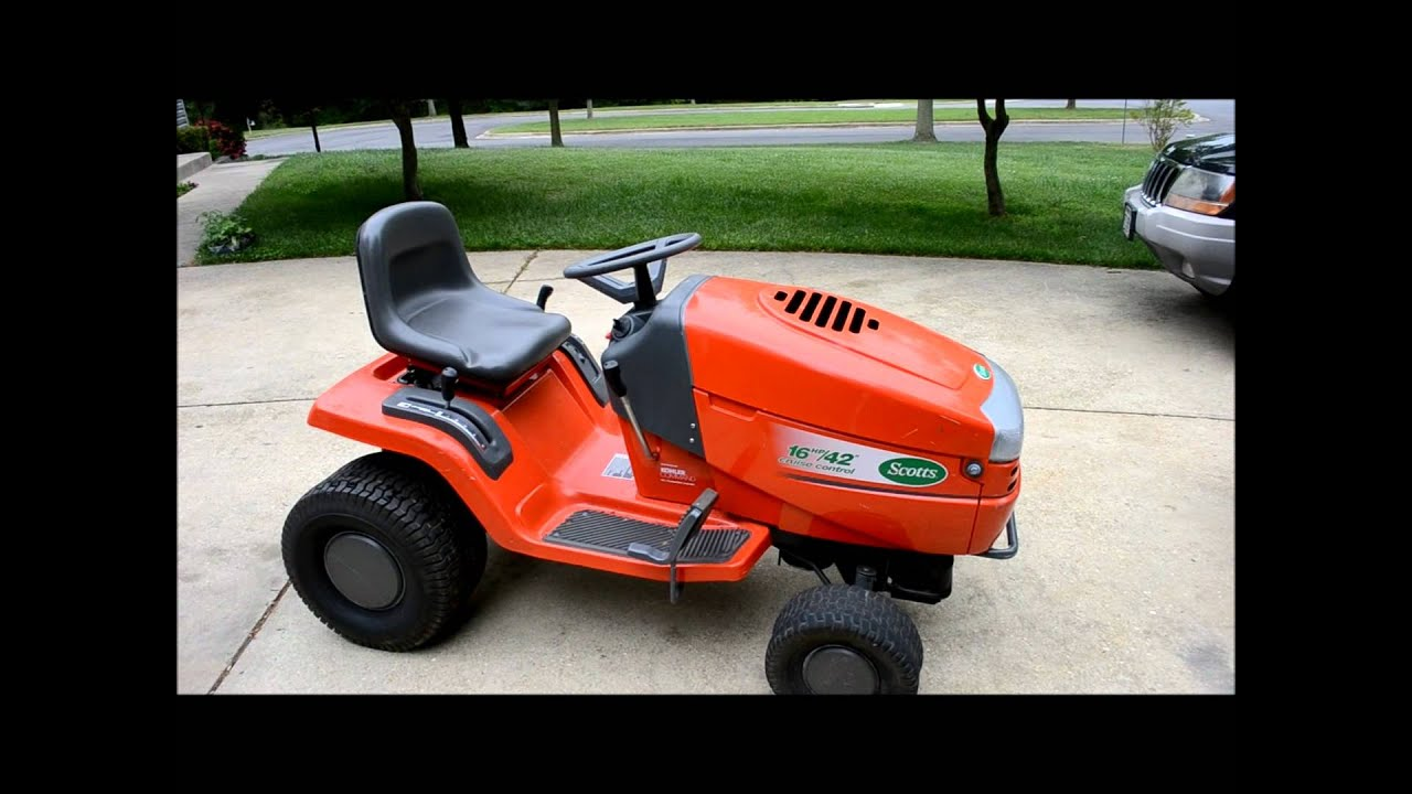 restoring a scotts riding lawn mower tractor part 1