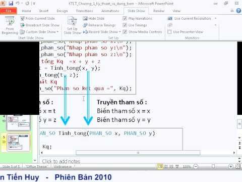 Kỹ thuật lập trình: Kỹ thuật tổ chức chương trình với hàm tự định nghĩa