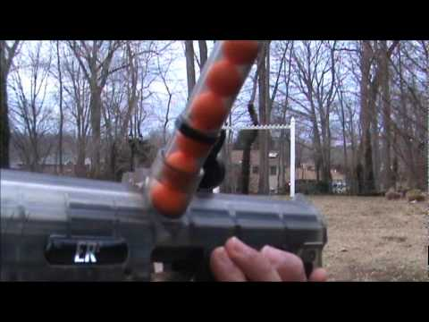 JT ER2 Pump Paintball Gun Shooting Test