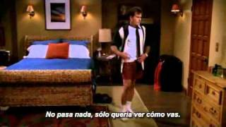 Primera y ultima escena de Charlie Sheen en Two and a half men. (Sub en español)