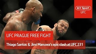 Thiago Santos vs Jimi Manuwa (Full Fight)   Epic fight of the year contender!