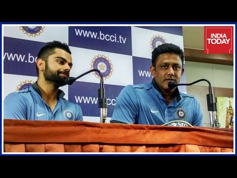 Virat Kohli & Anil Kumble Press Conference On West Indies Series