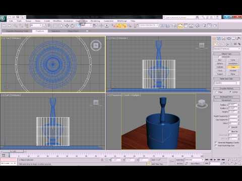 3DS Max Tutorial - Model and illuminate a table lamp with Vray in 3DS