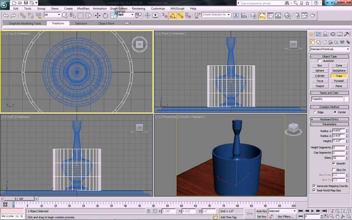 3ds max tutorial model and illuminate a table lamp with With table lamp 3ds max tutorial