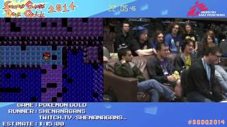 Pokemon Gold by Shenanagans in 55:08 -  SGDQ2014 - Part 151