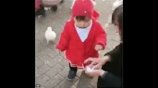"Funny/savage baby and seagull ""Thug life Diaper edition"""