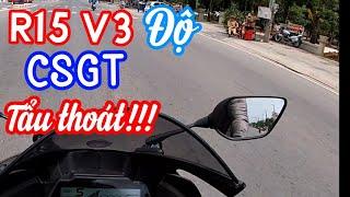 YAMAHA R15 V3 gặp chốt CSGT bắn tốc độ và cái kết | Thanh TN Motovlog