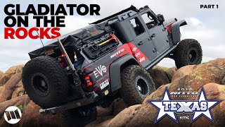 Jeep Gladiator Truck EVO OG40 Overland Off Road Katemcy Rocks Texas at NITTO JEEP EXPERIENCE Part 1