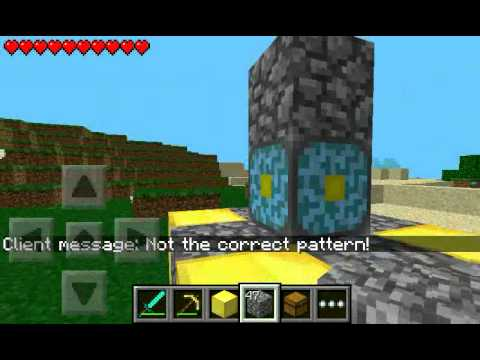 how to build a nether portal minecraft pe