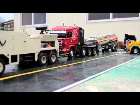 Realistic RC experience - Recovery Truck movie 8X4 scania wrecker & 8X8globeliner Wrecker