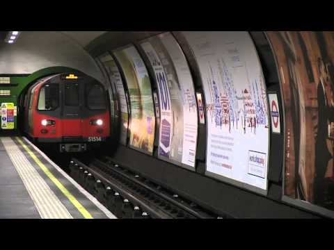 1995 Tube Stock London Underground Goodge Street Tube Station April 2012