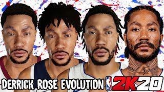 Derrick Rose Ratings and Face Evolution (College Hoops 2K8 - NBA 2K20)