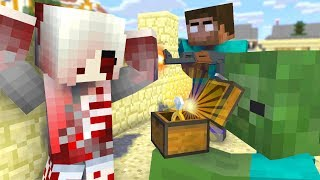 Monster School : ZOMBIE APOCALYPSE Girl CHALLENGE - Minecraft Animation