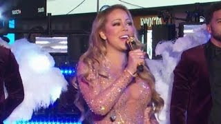 Mariah Carey DEFENDS Awkward NYE Performance - What Really Happened?