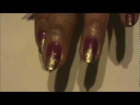 EFFIE TRINKET (hunger games) nail tutorial DESIGN 1