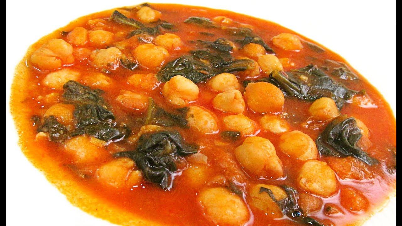 Garbanzos con espinacas youtube for Cocinar garbanzos