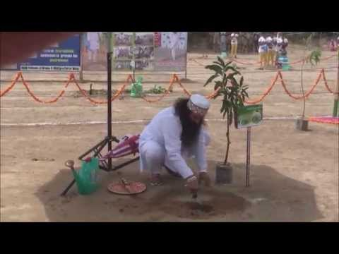 Revered Guru Ji inaugurating Mega Tree Plantation Drive on 15th Aug 2014