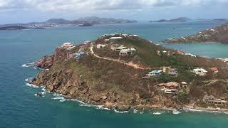 9/10/17 Aerial Footage Lameshur Bay to the Westin St John USVI after Hurricane Irma