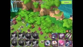 Boom Beach — JessieZX7 destroyed Romka 1983(18 global top, 7 boosted ices), HZ 64/70/84, live attack