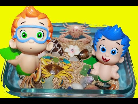 Bubble Guppies Surprise Eggs Mermaid Stacking Cups Nickelodeon Toys Collector Kinder Surprise Egg video