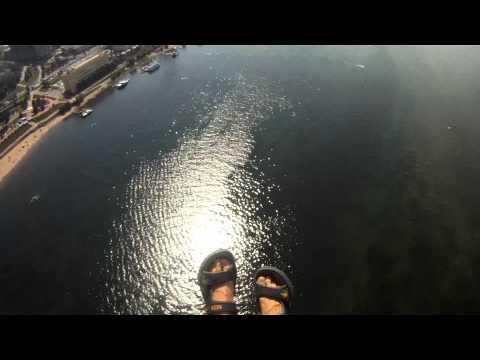 Прыжки с парашютом на воду в день ВДВ 02.08.2012