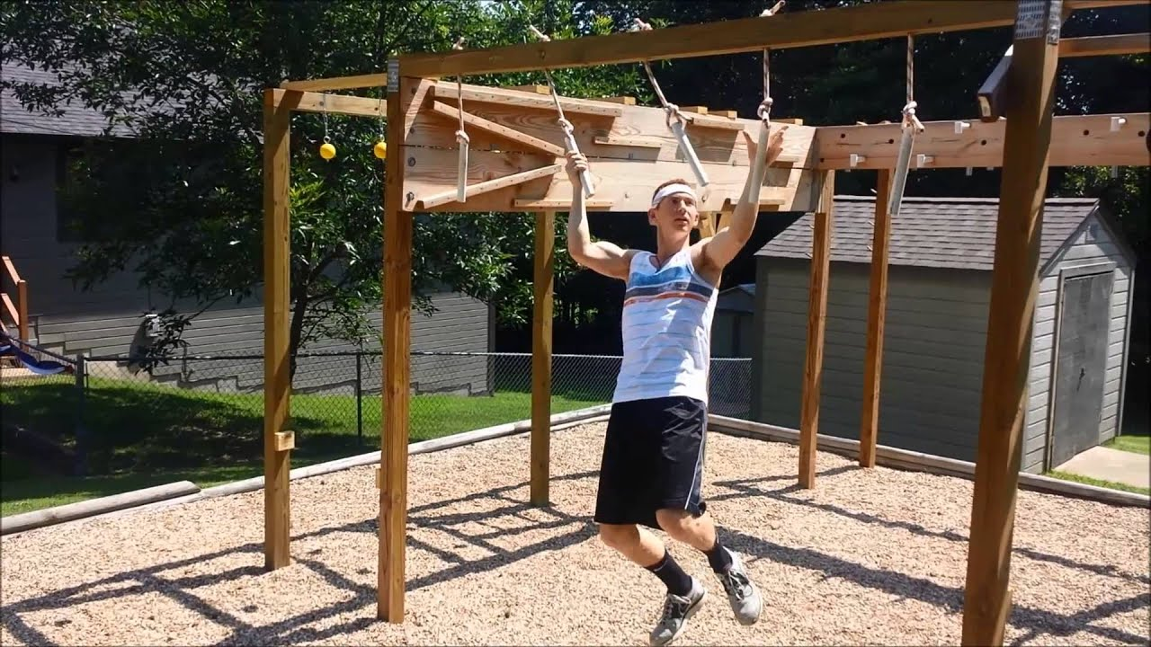 Backyard Ninja Warrior Plans : American Ninja Warrior CourseHomemade  YouTube