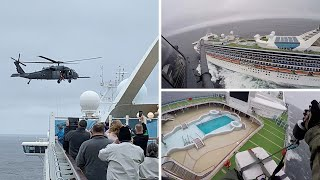 video: Britons on coronavirus cruise ship locked down as health crews are dropped in by helicopter