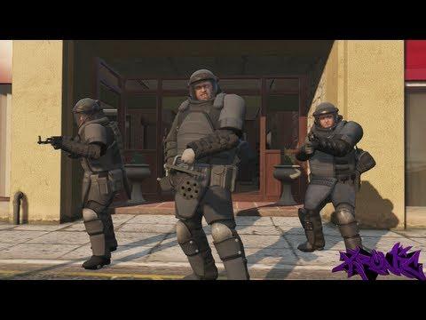 GTA 5: Juggernaut Suit Bank Heist Mission.