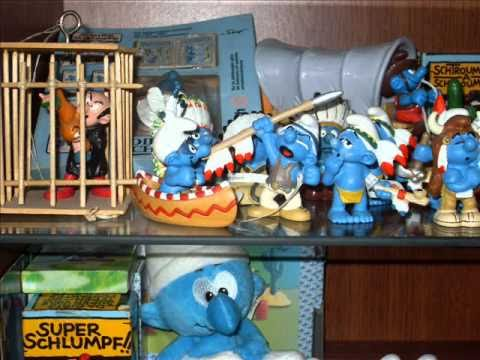 "Šmoulové "" BLUE world "" - smurf, schlumpf - my collection"