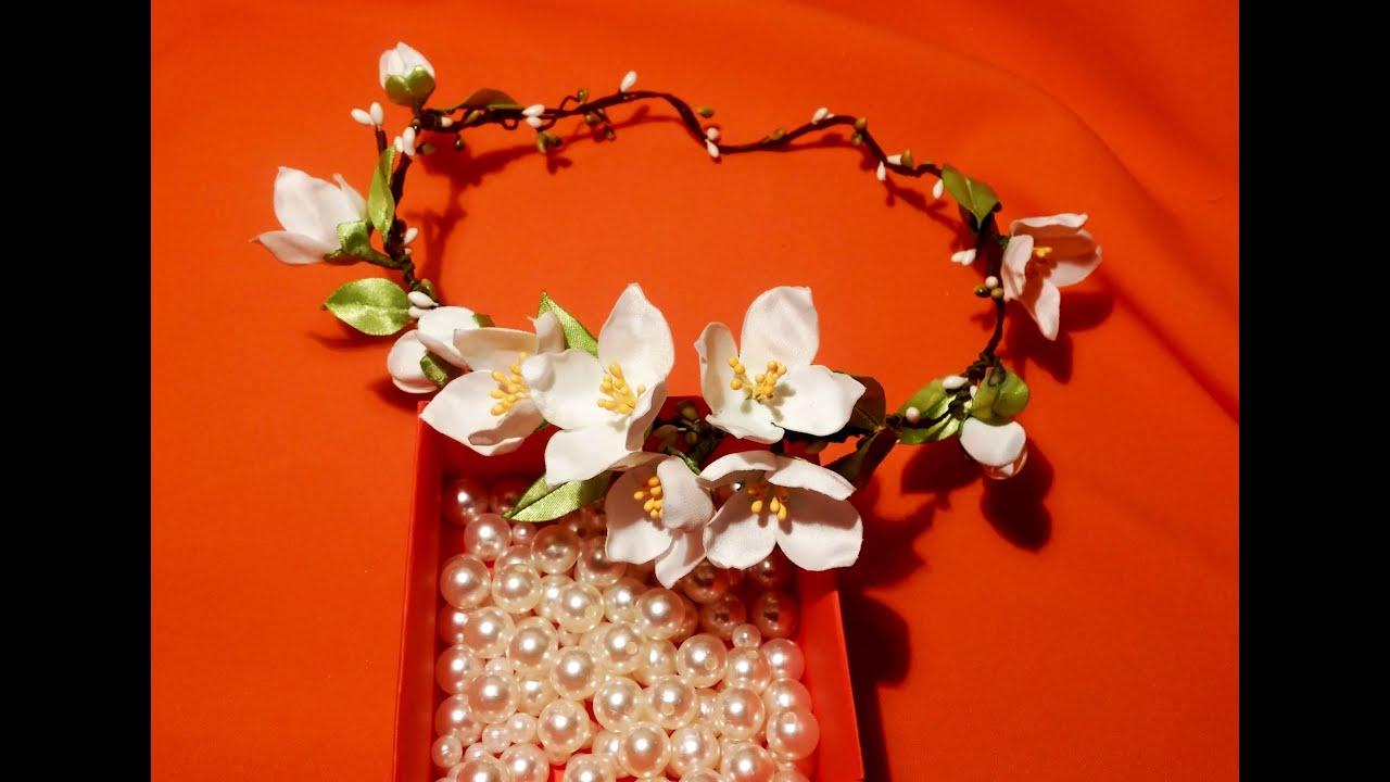 Как сделать цветы из ткани для венка своими руками