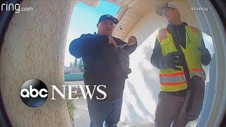 Homeowner yells through doorbell to stop potential burglars