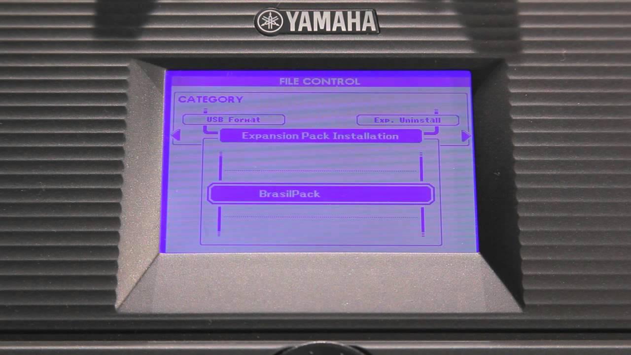 Psr s650 instalando o brazilian pack youtube for Yamaha expansion pack
