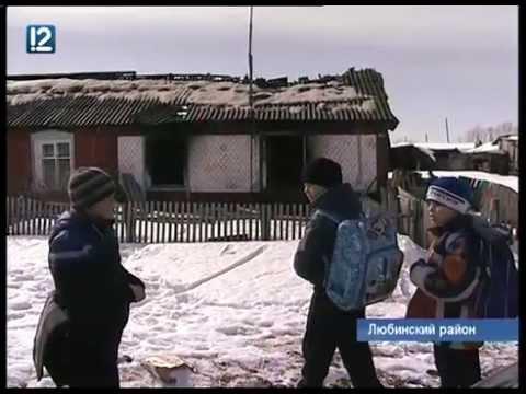 Мать детей, сгоревших дома в Любинском районе, спешно покинула поселок