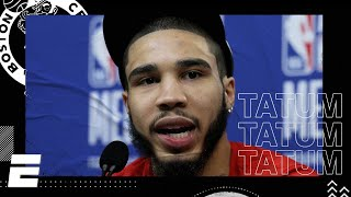 Jayson Tatum 2020 NBA All-Star Media Day Interview | NBA on ESPN