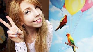 Original Painting - Birds on Balloons