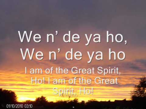The new Cherokee morning song with translation
