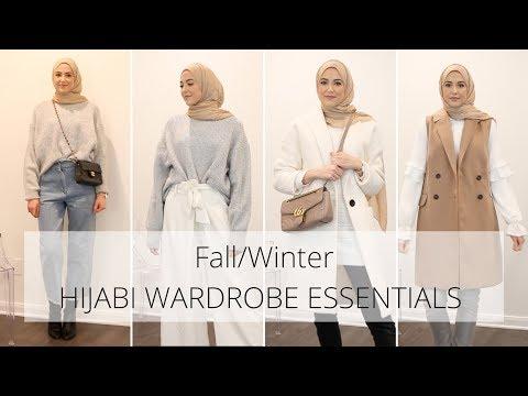 Top 10 Hijabi Wardrobe Essentials   Fall/Winter Outfit Ideas - YouTube
