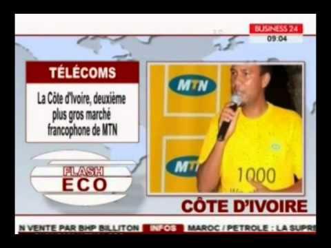 Telecoms  : la cote d'ivoire, deuxième plus gros marche francophone de MTN