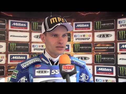 Slovenian FIM Speedway Grand Prix Practice action