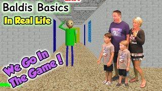 Baldi's Basics In Real Life! We GO in the Game and Beat Baldi   DavidsTV