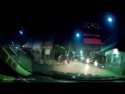 กล้องติดรถยนต์ กระจก Q5 ชัดจนต้องกราบ  กล้องหน้า ตอนกลางคืน